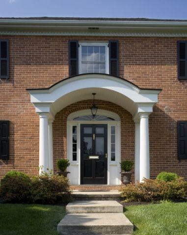 玄关背景墙美式风格装潢设计图片