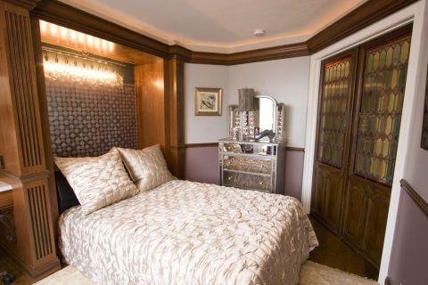 卧室推拉门混搭风格效果图