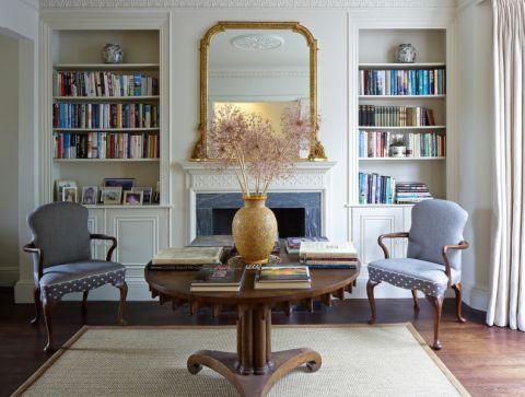 客厅博古架现代风格装修图片