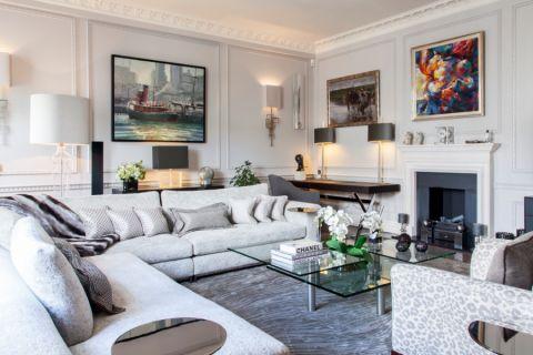 客厅现代风格效果图大全2017图片_土拨鼠简约富丽客厅现代风格装修设计效果图欣赏