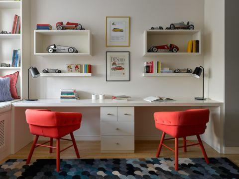 儿童房书桌现代风格装饰图片