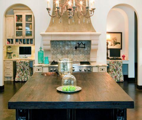 厨房地中海风格效果图大全2017图片_土拨鼠优雅迷人厨房地中海风格装修设计效果图欣赏