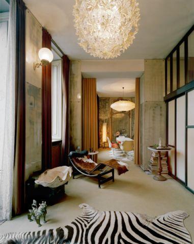 客厅吊顶混搭风格装潢设计图片