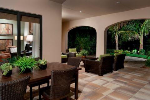 阳台地板砖混搭风格装修效果图
