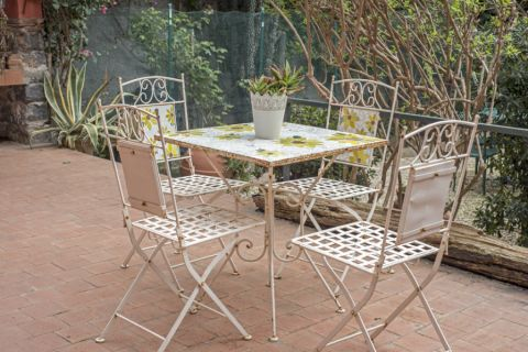 阳台餐桌地中海风格装饰设计图片