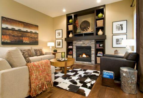 客厅照片墙混搭风格效果图