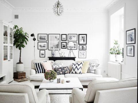 客厅沙发北欧风格装修设计图片