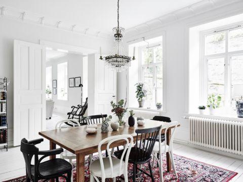 餐厅灯具北欧风格装修图片