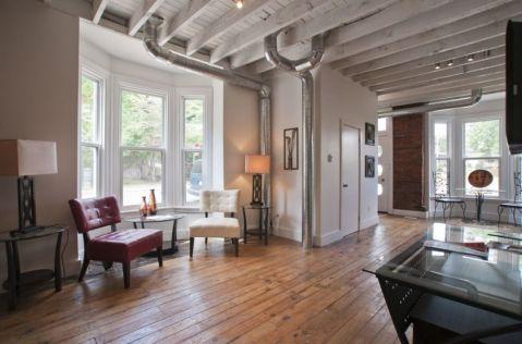 客厅现代风格效果图大全2017图片_土拨鼠温暖休闲客厅现代风格装修设计效果图欣赏