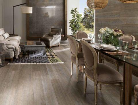 餐厅地板砖美式风格装潢效果图