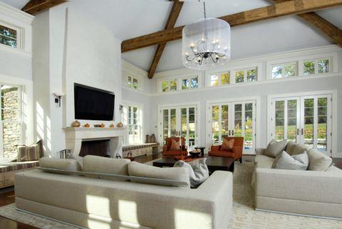 客厅推拉门地中海风格装修设计图片