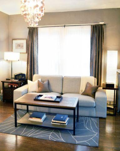 客厅混搭风格效果图大全2017图片_土拨鼠温馨纯净客厅混搭风格装修设计效果图欣赏