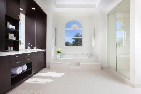 浴室现代风格效果图大全2017图片_土拨鼠浪漫纯净浴室现代风格装修设计效果图欣赏
