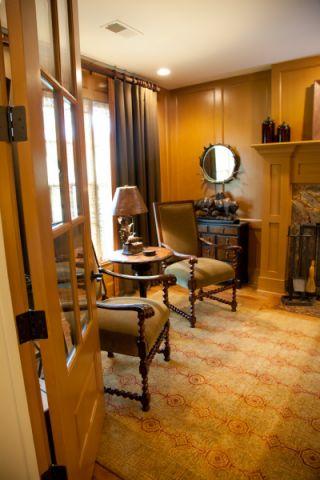 书房背景墙混搭风格装潢设计图片