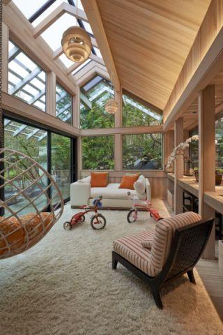 阳光房吊顶现代风格装饰图片
