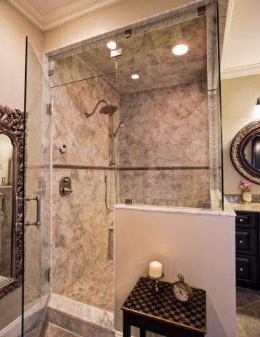 浴室推拉门美式风格装修图片