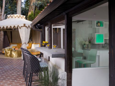阳台吧台地中海风格装修效果图