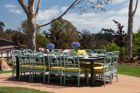 阳台餐桌地中海风格装潢图片