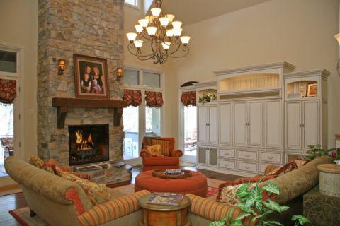 客厅灯具美式风格装修效果图