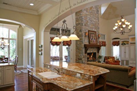 厨房隔断美式风格装潢效果图