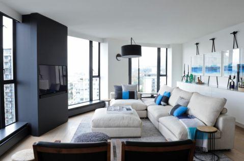 客厅现代风格效果图大全2017图片_土拨鼠休闲舒适客厅现代风格装修设计效果图欣赏