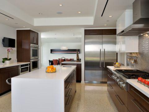 厨房现代风格效果图大全2017图片_土拨鼠清新写意卧室现代风格装修设计效果图欣赏