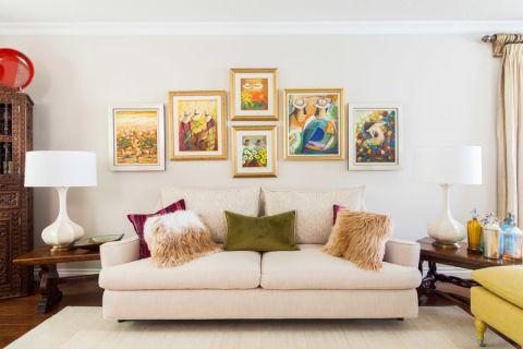 客厅混搭风格效果图大全2017图片_土拨鼠简约淡雅客厅混搭风格装修设计效果图欣赏