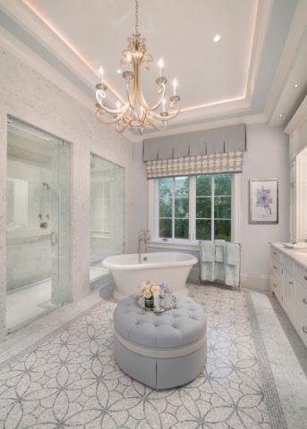 浴室美式风格效果图大全2017图片_土拨鼠完美纯净浴室美式风格装修设计效果图欣赏