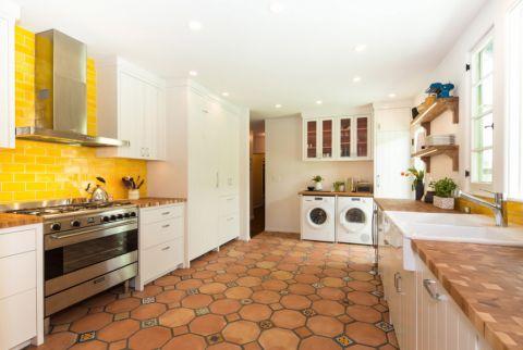 厨房地中海风格效果图大全2017图片_土拨鼠时尚创意厨房地中海风格装修设计效果图欣赏