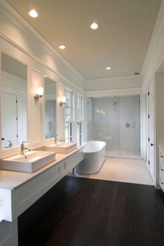 浴室现代风格效果图大全2017图片_土拨鼠休闲个性浴室现代风格装修设计效果图欣赏