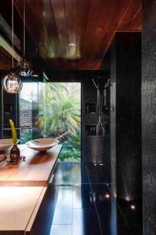 浴室现代风格效果图大全2017图片_土拨鼠温馨摩登浴室现代风格装修设计效果图欣赏