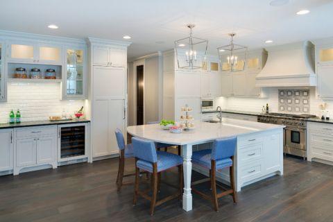 厨房美式风格效果图大全2017图片_土拨鼠完美温馨厨房美式风格装修设计效果图欣赏