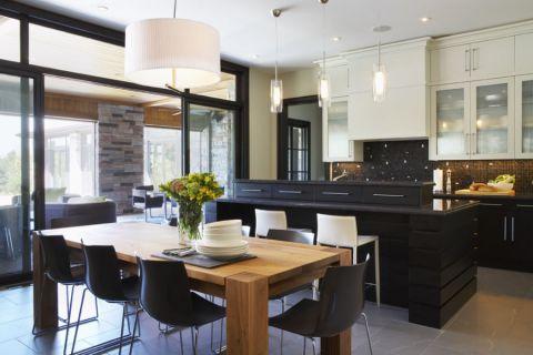 厨房现代风格效果图大全2017图片_土拨鼠豪华沉稳厨房现代风格装修设计效果图欣赏