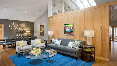 客厅现代风格效果图大全2017图片_土拨鼠优雅清新客厅现代风格装修设计效果图欣赏