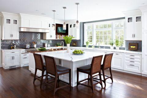 厨房美式风格效果图大全2017图片_土拨鼠唯美温馨厨房美式风格装修设计效果图欣赏