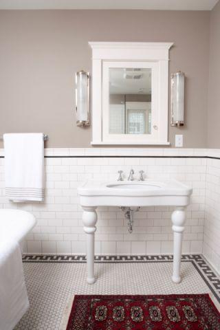 浴室美式风格效果图大全2017图片_土拨鼠文艺清新浴室美式风格装修设计效果图欣赏