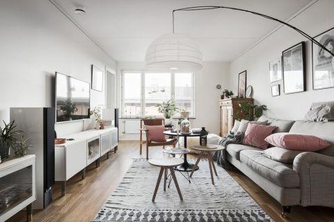 客厅北欧风格效果图大全2017图片_土拨鼠简约格调客厅北欧风格装修设计效果图欣赏