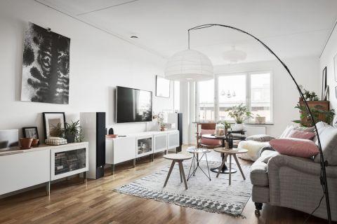 客厅北欧风格效果图大全2017图片_土拨鼠精致雅致客厅北欧风格装修设计效果图欣赏
