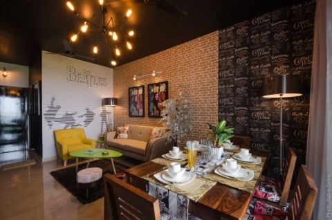 餐厅混搭风格效果图大全2017图片_土拨鼠极致休闲餐厅混搭风格装修设计效果图欣赏