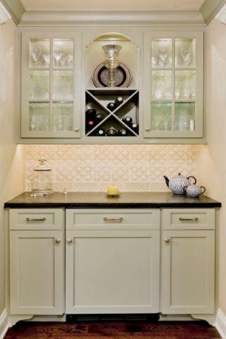 2019美式厨房装修图 2019美式背景墙图片