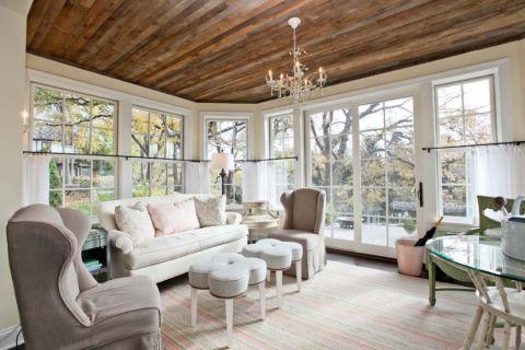 客厅美式风格效果图大全2017图片_土拨鼠温暖富丽客厅美式风格装修设计效果图欣赏