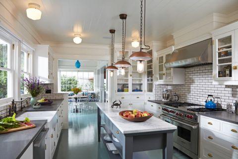 厨房美式风格效果图大全2017图片_土拨鼠优雅优雅厨房美式风格装修设计效果图欣赏
