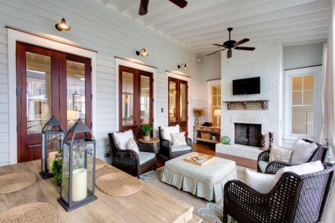 朴素温馨美式沙发设计效果图