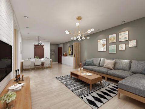 2021北欧120平米装修效果图片 2021北欧四居室装修图