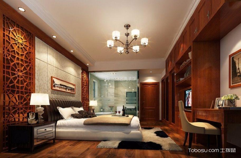 颐安麓园现代中式风格100平米三居室装修效果图