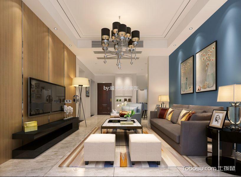 120平米现代简约风格四室两厅装修效果图