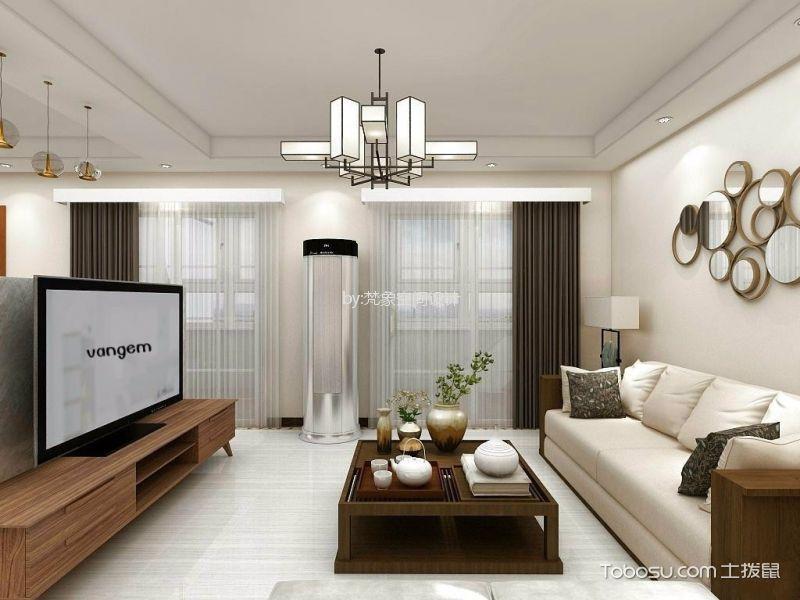 琶洲安置区120平方现代简约风格三居室装修效果图