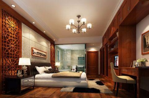 2021现代中式100平米图片 2021现代中式三居室装修设计图片