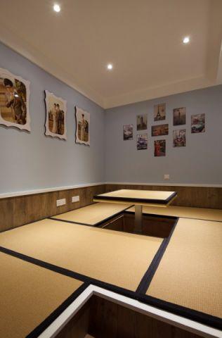 起居室照片墙美式风格装潢效果图