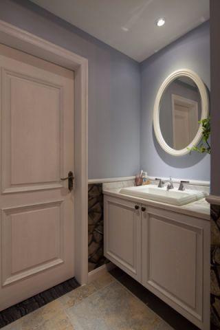 卫生间梳妆台美式风格装修图片